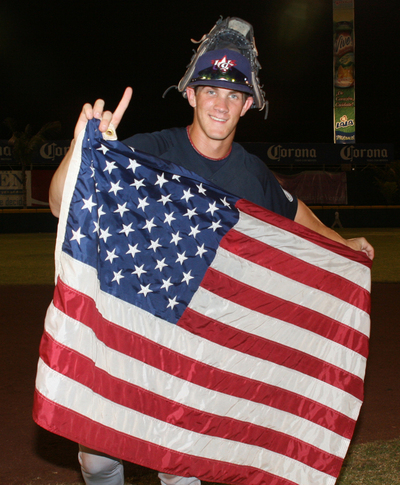 Harper With Flag.JPG